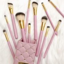 BH COSMETICS Studded Elegance 12 Pcs Brush Set with Holder