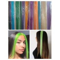 Pack of 2 Neon Fashion Colors Hair Strips