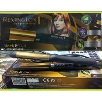 Remington 2 in 1 Straightner Plus Curler