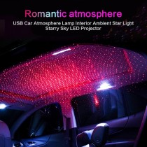 Car Roof Lights Projector USB Auto Decoration