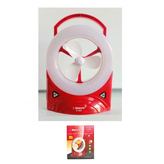 Chargeable Fan With Led Light