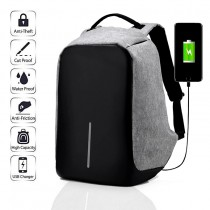 Anti Theft Water Proof Laptop Backpack With A Usb Cable