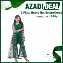 Azadi Deal 3 Piece Heavy Net Embroidered Suit