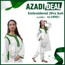 Azadi Deal Embroidered 2Pcs Suit AD-494