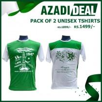 AZADI DEAL PACK OF 2 UNISEX TSHIRTS