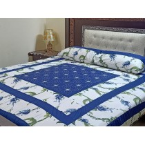 New Embroidered 3pc Bedsheets RB-729