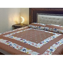 New Embroidered 3pc Bedsheets RB-731
