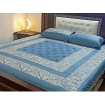 New Embroidered 3pc Bedsheets RB-732