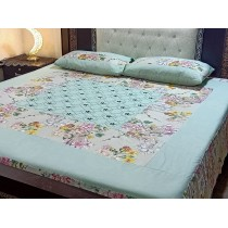 New Embroidered 3pc Bedsheets RB-734