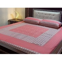 New Embroidered 3pc Bedsheets RB-737