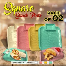 Pack of 2 Square Snack Plate