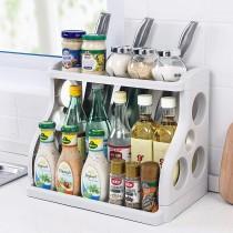 Double Layers Kitchen Shelf Seasoning Storage Rack
