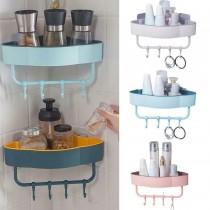 Self-Adhesive Wall Corner Shelf With Hook