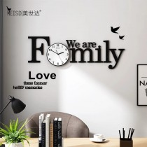 Wooden Wall Clock with Black Needle SO-7567