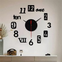 Wooden Wall Clock with Black Needle SO-7569