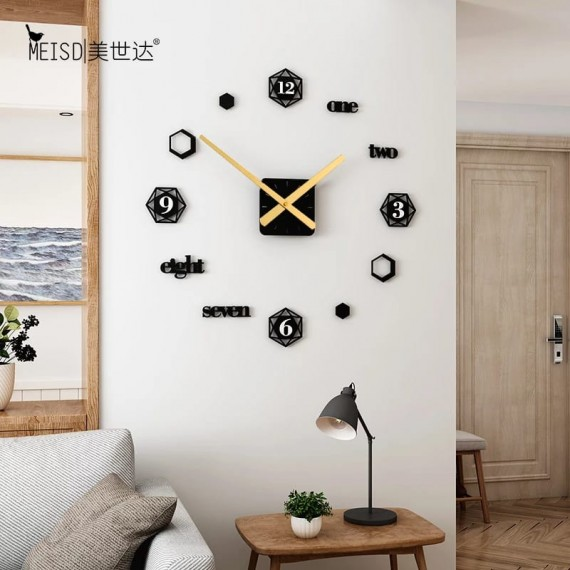 Wooden Wall Clock with Black Needle SO-7571