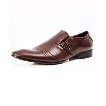 Choco Brown Side Buckle Stylish Formal Shoes