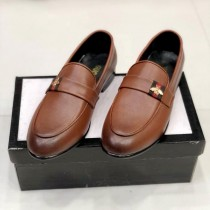 Gucci Bee Formal Shoes Brown
