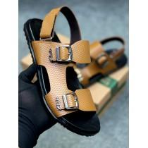 Clarks Side Strap Men's Sandal Camel Brown