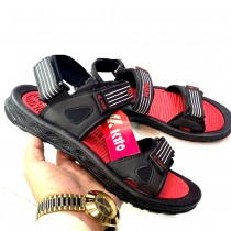 Kito Line 2 Strap Casual Sandals Black Red
