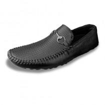 Men's Black Belt Casual Shoes