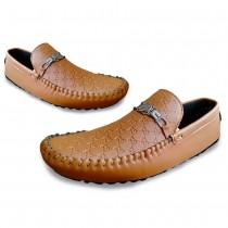 Men's Camel Brown Texture Shoes