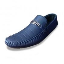 Men's Texture Blue Casual Shoes