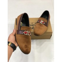 Velvet Style Brown Loafer Shoes