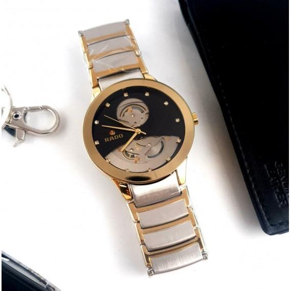 Rado Men's Swiss Centrix Gold Black