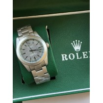 Rolex Made Case Silver Watch