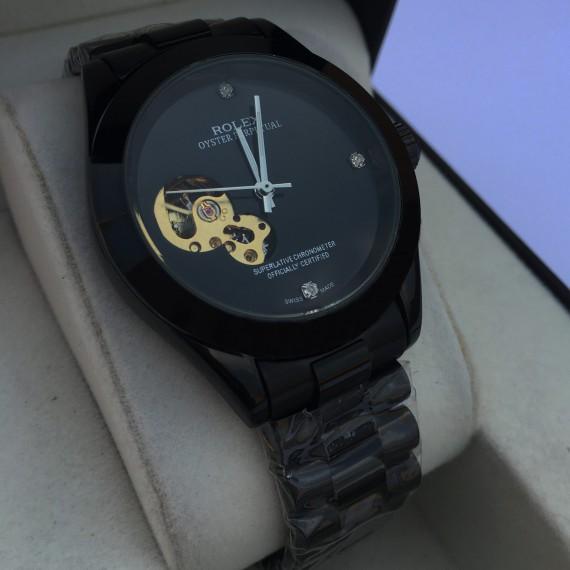 Rolex Skeleton Automatic Black Watch