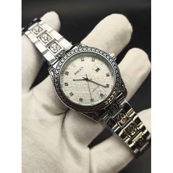 Rolex Super Engraving Chain Gents Watch HWP-086