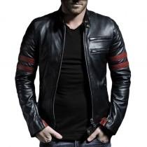 High-Street Men Faux Leather Jacket