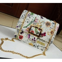 GUESS fLoRal cross body with long chain Bag