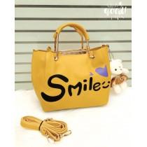 Smile Metal Handle Crossbody Bags