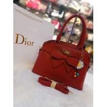Dior with stylish look with flower keychain
