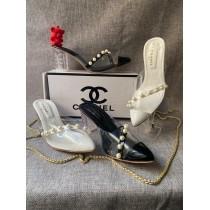 Chanel Pearl Line Heels