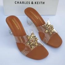 Charles & Keith Crystal Flower Heel