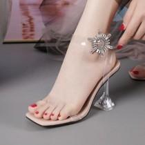 Manolo Blahnik PVC Transparent Heel Sandal