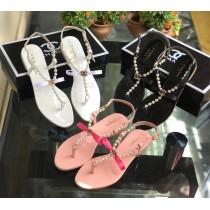 New CHANEL Pearls Flat Slipper