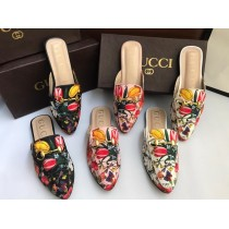 GUCCI Fully Flower Texture Pumps