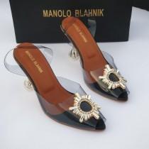 Manolo Blahnik Crystal Heel Sandal