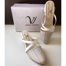 VJ Stylish Cross Step Pump White