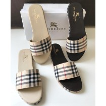 Burberry Check Style Casual Slippers SCM-125