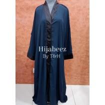 Behijabeez Front Open Style Abaya with Scarf HUA-M11