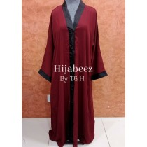 Behijabeez Front Open Style Abaya with Scarf HUA-M12