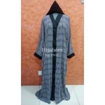 Behijabeez Front Open Style Abaya with Scarf HUA-M8