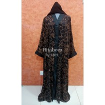 Behijabeez Front Open Style Abaya with Scarf HUA-M9