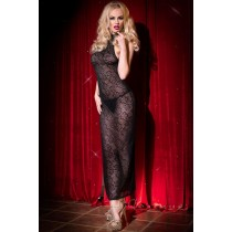 Black Net Stylish Transparent Design Nightwear