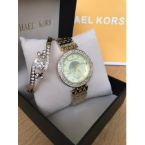 MK Ladies Watch with Arrow Bangle Set